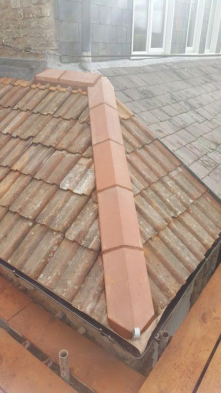 hip tiles on mono pitch roof